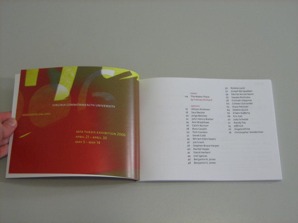 2006 MFA Catalog (VCU)